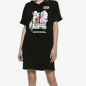 BT21 Hoodie Sweatshirt Dress Size XL